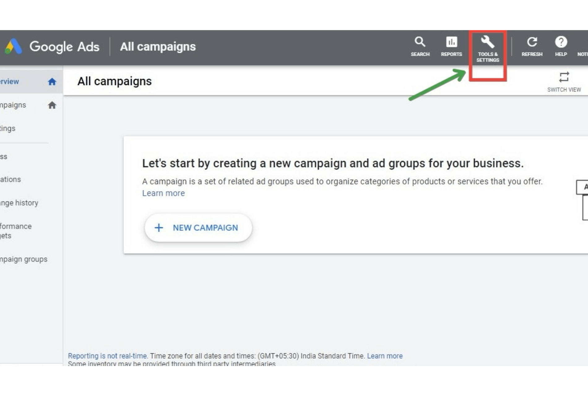What is Not a Benefit of Google Analytics Remarketing showing google ads dashboard 1